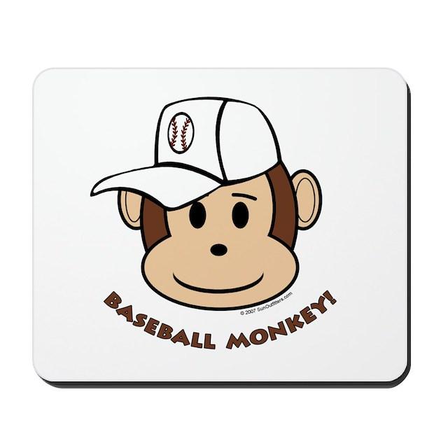 Baseball Monkey! Mousepad by sunoutfitters