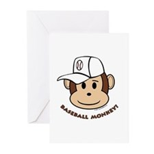 Baseball Monkey! Greeting Cards (Pk of 10)