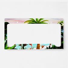Aqua Beach License Plate Holder