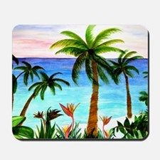 Aqua Beach Mousepad