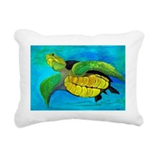 Sea Turtle Art Rectangular Canvas Pillow