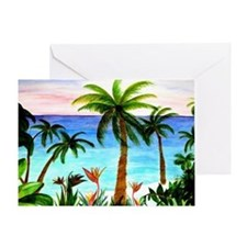 Aqua Beach Greeting Card