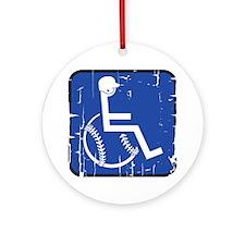 HandicapBaseball Round Ornament