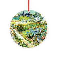 Van Gogh Arles Garden Flowers Round Ornament