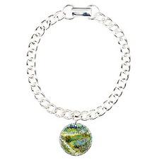 Van Gogh Arles Garden Fl Charm Bracelet, One Charm