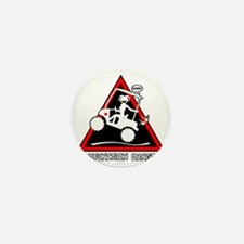 GOLF MALFUNCTIONS danger triangle Mini Button