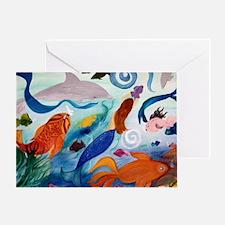 Mermaid  Tropical Fish Party Greeting Card