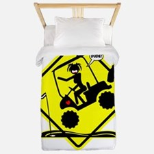 HOLE IN ONE! yellow placard Twin Duvet