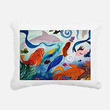 Mermaid  Tropical Fish P Rectangular Canvas Pillow