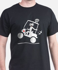 GOLF MALFUNCTIONS white image T-Shirt
