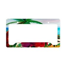 Tropical Floral Beach License Plate Holder