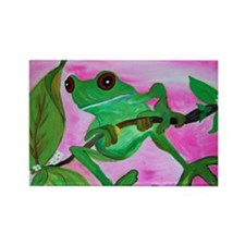 Sassy Frog Rectangle Magnet