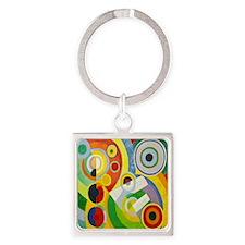 Robert Delaunay Rythme Cubist Square Keychain