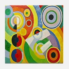Robert Delaunay Rythme Cubist Tile Coaster