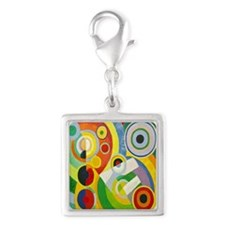 Robert Delaunay Rythme Cubist Silver Square Charm