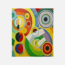 Robert Delaunay Rythme Cubist Throw Blanket