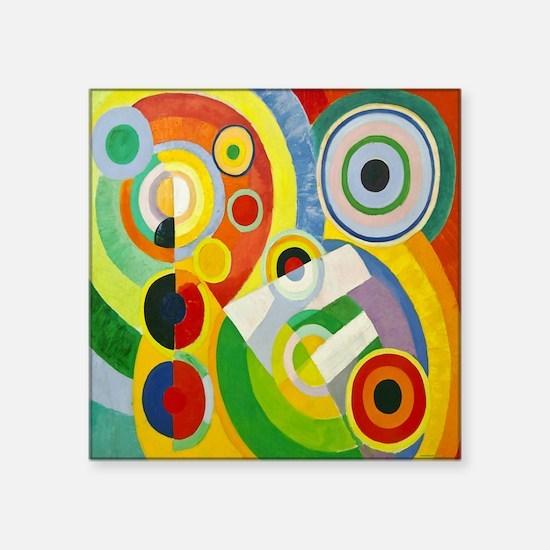 "Robert Delaunay Rythme Cubi Square Sticker 3"" x 3"""