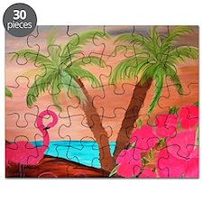 Flamingo in Paradise Art Puzzle
