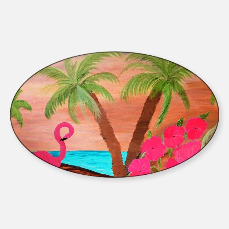 Flamingo in Paradise Art Decal
