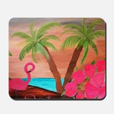 Flamingo in Paradise Art Mousepad