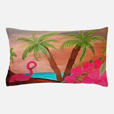 Flamingo in Paradise Art Pillow Case