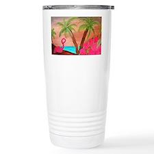 Flamingo in Paradise Ar Travel Mug