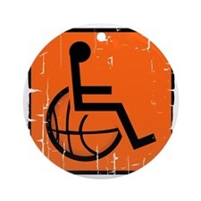 Handicap Basketball Round Ornament