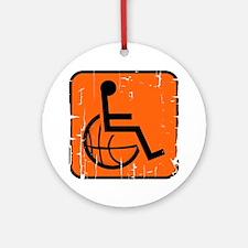 Handicap Basketball Round Ornament
