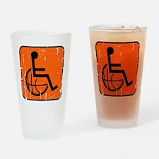 Handicap Basketball Drinking Glass