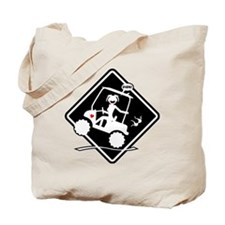 GOLF MALFUNCTIONS black placard Tote Bag