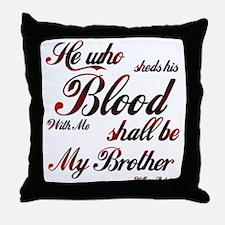 Henry V's Throw Pillow