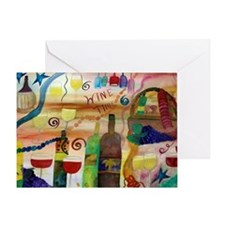Wine Time Art Greeting Card