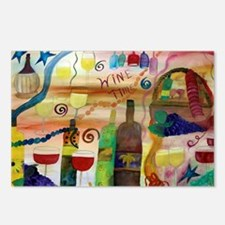 Wine Time Art Postcards (Package of 8)