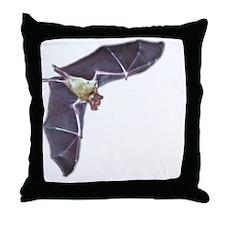 bat in flight 10blk Throw Pillow