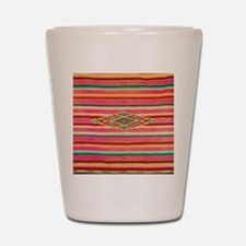 Vintage Pink Mexican Serape Shot Glass