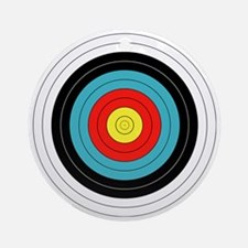 Archery Target Round Ornament