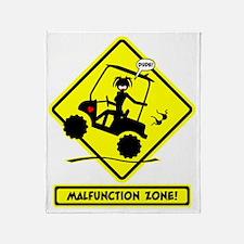GOLF MALFUNCTIONS yellow placard Throw Blanket