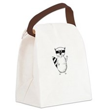 Raccoons Mock Canvas Lunch Bag