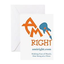 amIright 2013 Logo  Motto Greeting Card