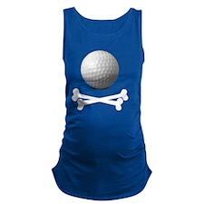 Pirate Golf Maternity Tank Top