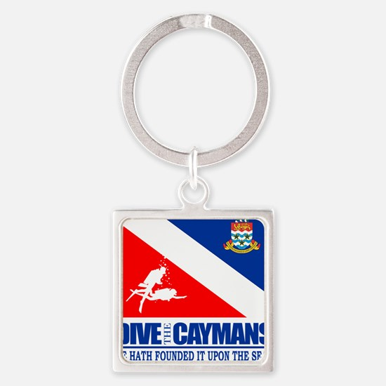 Dive The Caymans Square Keychain