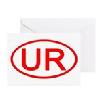 UR Oval (Red) Greeting Cards (Pk of 10)