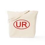 UR Oval (Red) Tote Bag