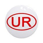 UR Oval (Red) Ornament (Round)