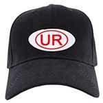 UR Oval (Red) Black Cap