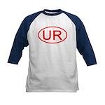 UR Oval (Red) Kids Baseball Jersey