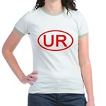 UR Oval (Red) Jr. Ringer T-Shirt