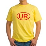 UR Oval (Red) Yellow T-Shirt