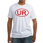 UR Oval (Red) Fitted T-Shirt