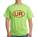 UR Oval (Red) Green T-Shirt